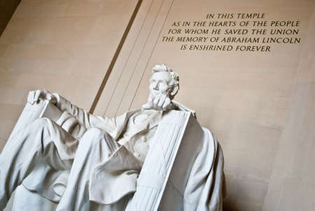 The Interior of the Lincoln Memorial in Washington, DC photo