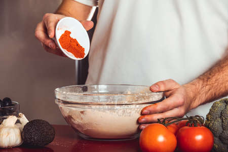 Process cooking homemade seitan. How to make vegan meat