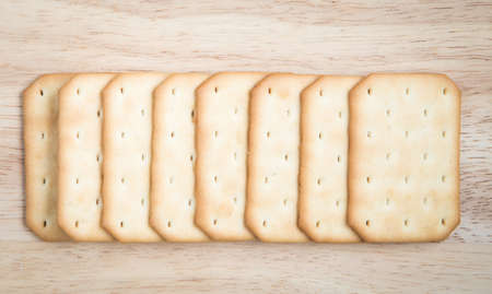 salty: Salty crackers in square shape arrange