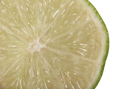 close up  lime on a white background