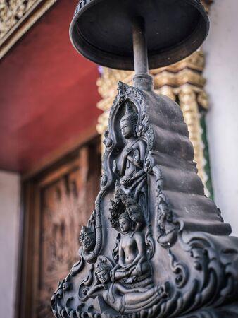 Beautyful asian buddha statue in a temple