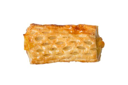 isolated sweet corn pie on a white background