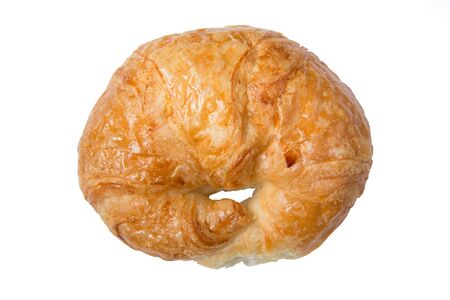 Isolated butter croissant on a white background