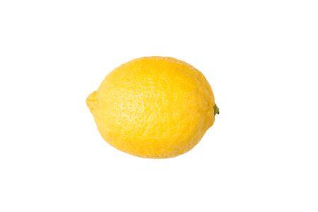 Isolated lemon fruit on a white background Stock Photo