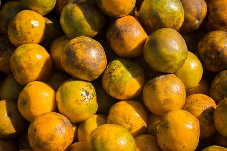 Close up pile of orange as a background Stock Photo