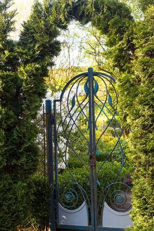 garden gate: Garden gate with a lock or Gate to Heaven