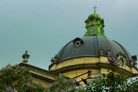 lvov: Dome of the church of the Dominican Cathedral, Lvov