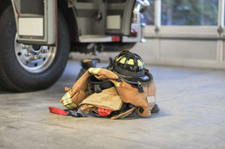 turnout gear: Ready to Go Stock Photo