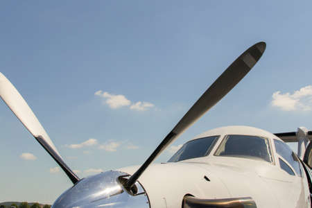 spinner: Private Aircraft Stock Photo