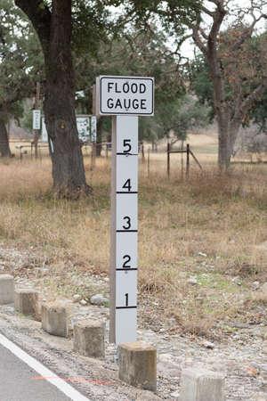 Flood Gauge on the shoulder of the road