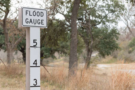 Flood Guage on the shoulder of the road