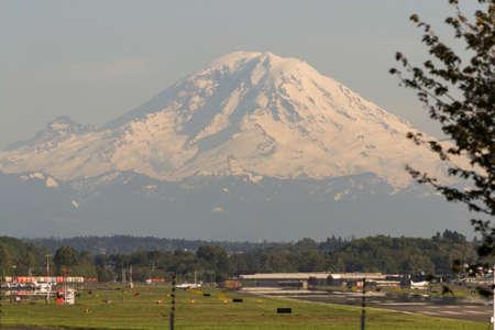 rainier: Mount Rainier over Boeing Field
