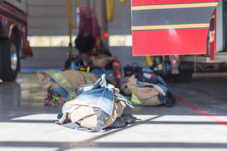 turnout gear: Equipment ready for the next fire call