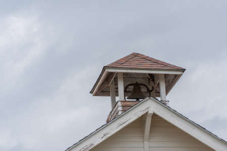Old One-Room School House Bell Stock Photo