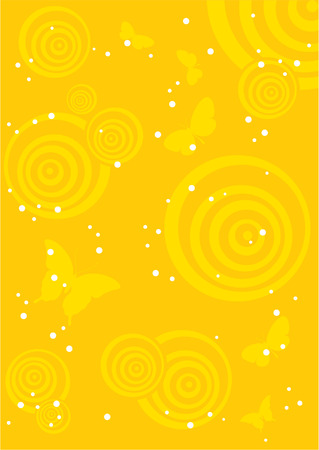 Background_abstract_with_rings_and_butterfliås Illustration