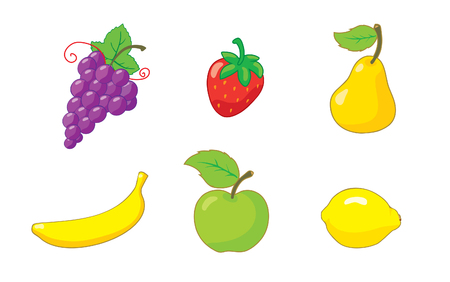 agrarian: Summer_fruits_icon_set