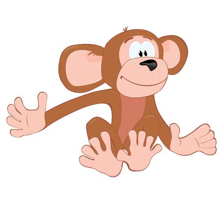 Sitting_funny_monkey Stock Vector - 2784470