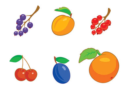 peachy: Summer berries icon set