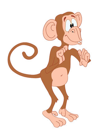 Funny monkey standing and waiting Stock Vector - 2830995