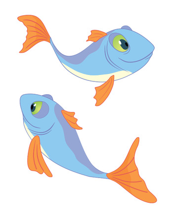 Two fishes series II Vector