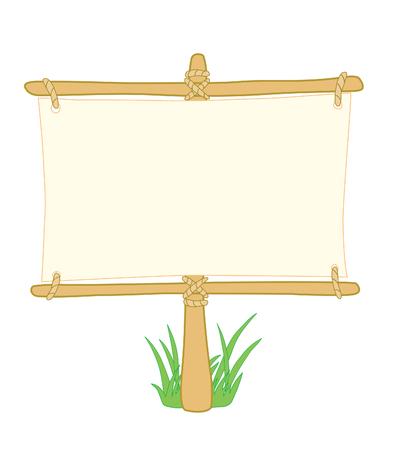 directiva: Tablero de madera con informaci�n sobre el c�sped pilar