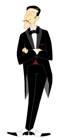 tailcoat: Illusionist in tailcoat and bow