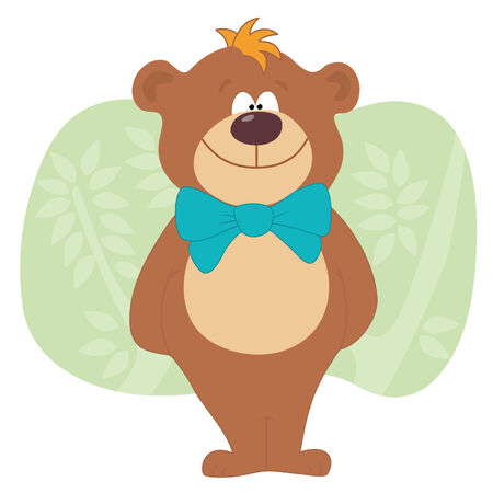 Bear standing with bow
