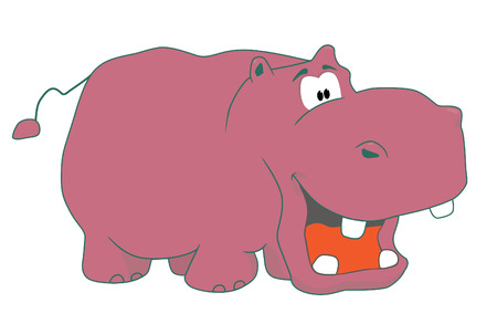 Funny hippopotamus Illustration