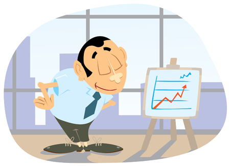 persuasion: Office clerk are doing a presentation