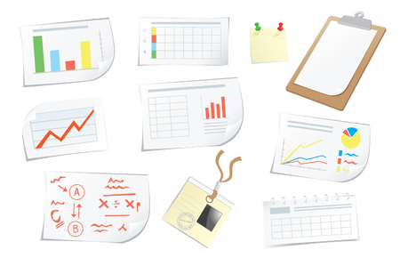 Graphics chart patterns and items for business