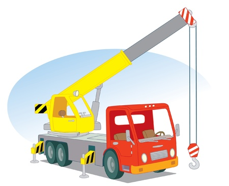 crane truck: Crane car Illustration