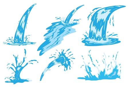 fresh water splash: Spritzwasser und jet