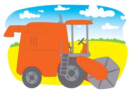 Combine Harvester Stock Vector - 14530277