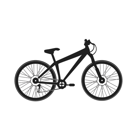 rugged: Mountain sports bike for extreme driving, ridding on rugged mountains and the locality Illustration