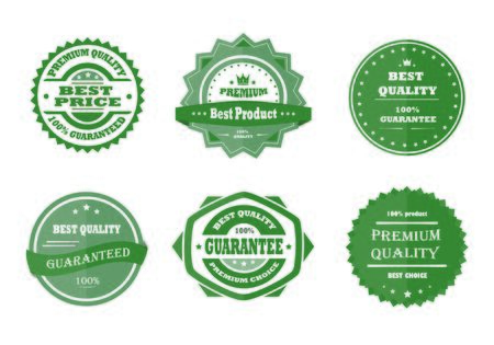 best quality: Guarantee, premium quality and best choice vector Illustration