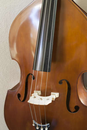Cello against light background photo