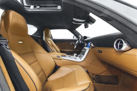 Car interior. Comfortable modern salon Imagens