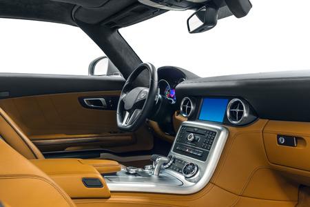 Car interior. Comfortable modern salon Banque d'images