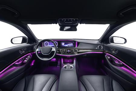 Car interior. Comfortable modern salon 스톡 콘텐츠