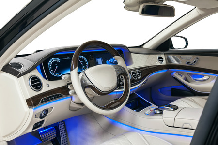 Car interior. Comfortable modern salon Stock Photo