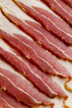 uncooked bacon: Uncooked Bacon Pattern Background Material Stock Photo