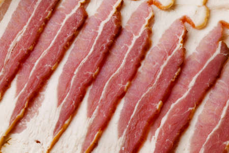 Uncooked Bacon Pattern Background Material Stock Photo