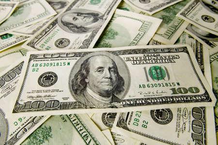 Money background pattern of one hundred dollar bills.