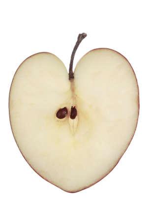 sustenance: Heart Shaped Apple Stock Photo