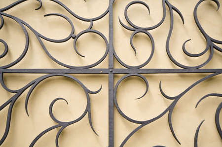 iron gate: Old iron gate element Stock Photo