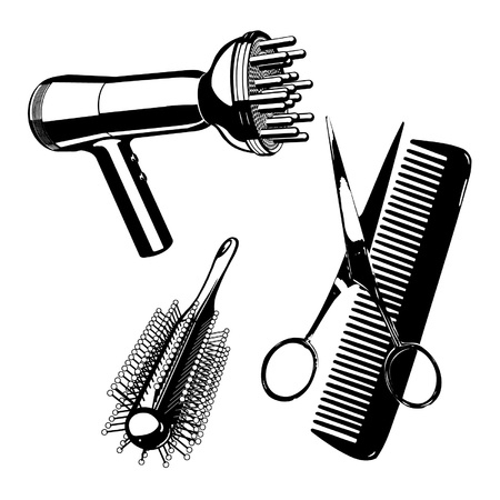 Hairdressing kit Vector