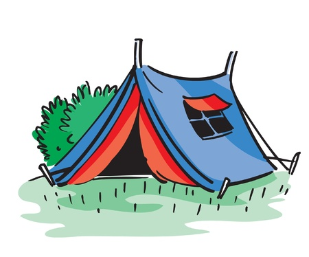 Cartoon camping tent Vector