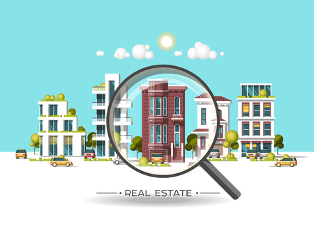 City landscape. Real estate and construction business concept.
