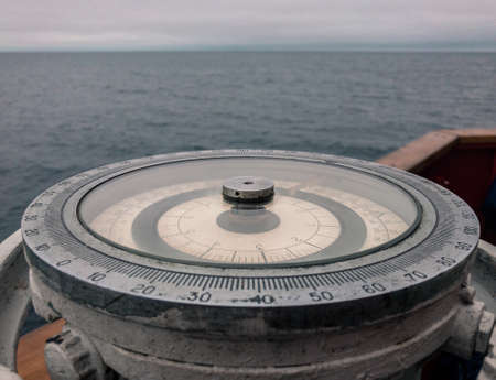 Marine gyro compass repeater on the ship