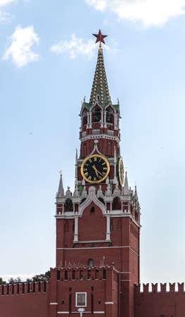 The Saviour Spasskaya Tower of Moscow Kremlin, Russia.